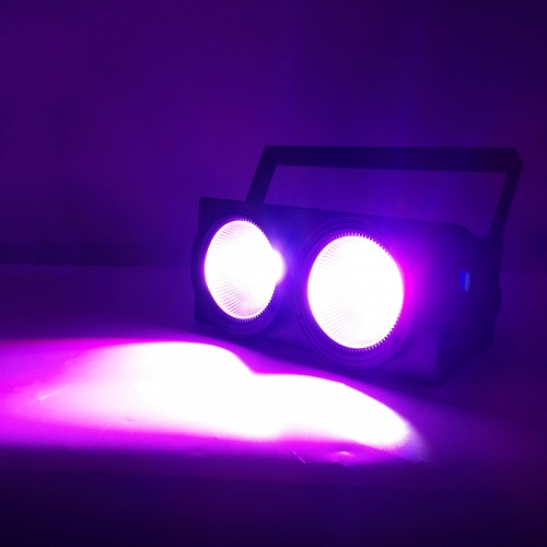 Fashional 2eyes 2x100W Led Blinder 200W COB Par RGBW 4IN1和RGBWA + UV 6IN1 DMX舞檯燈光效果觀眾燈光DJ設備Disco